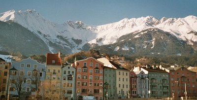 Innsbruck on the green river Inn