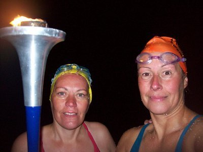 With the World Harmony Run torch on French sands