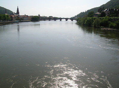 Neckar mit Alter Brücke - Old Bridge over the Neckar 2