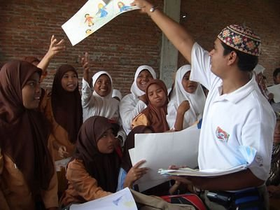 Distribution of Drawings of love  in Banda Aceh