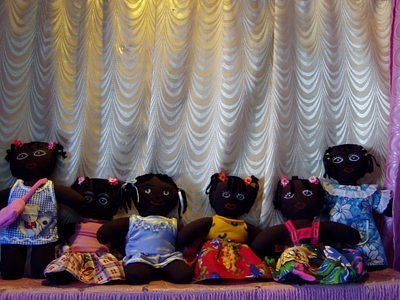 Mongolian girls made dolls