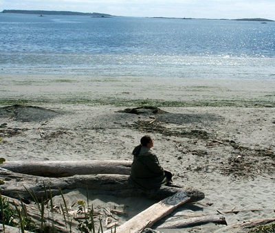 Samadhi on the beach in Victoria