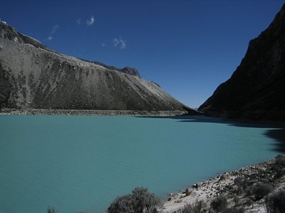 This is Laguna Paron, from where the aproach leads to several very beautifull peaks