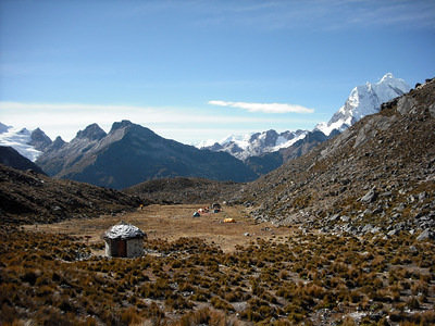 The base camp at 4650m
