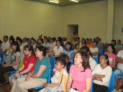 The audience at the concert in Darkhan