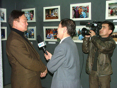 G.Mend-Ooyo - President of the Academy of Culture and Poetry giving interview