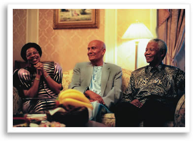 Sri Chinmoy President Mandela and Garca Mandela