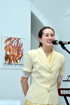 Darya, the exhibition curator.