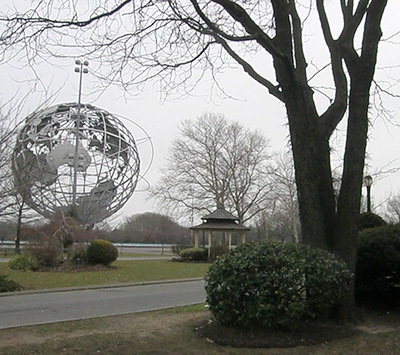 Queens Museum of Art is across from the Unisphere in Flushing Meadow Park