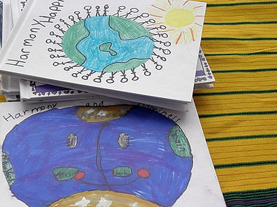 Children's Artwork and Poems from World Harmony Run in Florida
