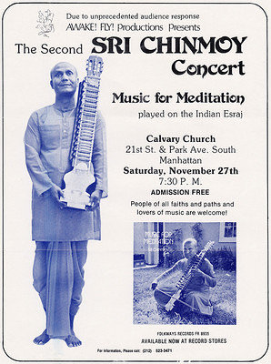 1976 nov 27 76 Esraj concert Calvery Church