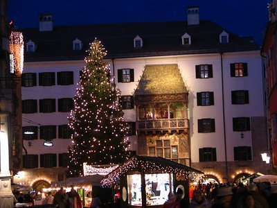 "the ""Christkindl"" market in the old town of Innsbruck"
