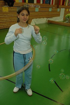 Sophia from Austria setting a new World Record for long time Hula Hoop on 05.11.2006