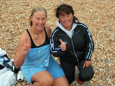 "Vasanti and Miyuki, Japanese ""Queen of the Channel"""