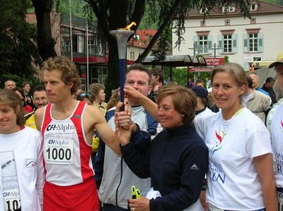 World Harmony Run in Eberbach 2005