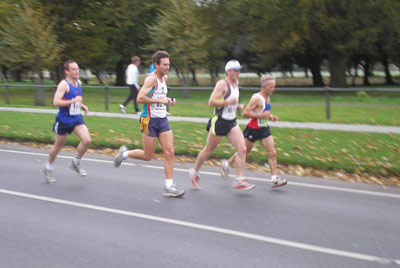 Shane latching on to the back of some good runners