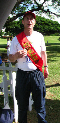 Mr. Canada with his sash