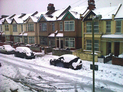 Winter in London . Feb.2009. Snow!
