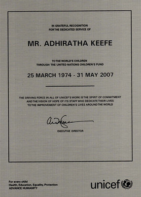 2007-05-may-31-adhiratha-keefe-UNICEF-recognition-33-plus-years-begin-CF-1974-and-UN-1973 Page 1