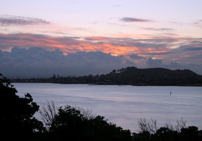 Mangere Mountain and Manukau Harbour, NZ