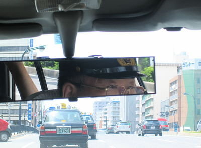 A taxi to the Hiroshima Peace Memorial Museum, venue for an outdoor concert by Sri Chinmoy.