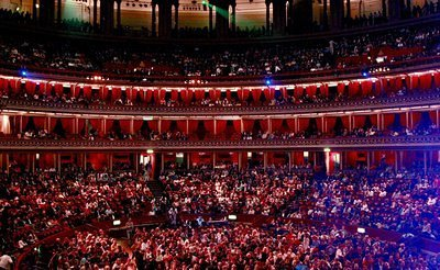 The Royal Albert Hall: full audience!