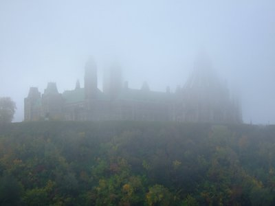 Parliament in the fog 1