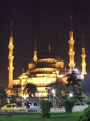 Blue Mosque by night 1