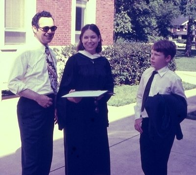 My Dad, me and my little brother, Jamie at my graduation