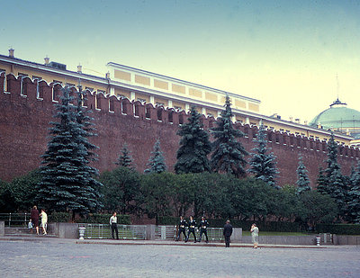 Kremlin Wall with Guards at Lenin's Tomb