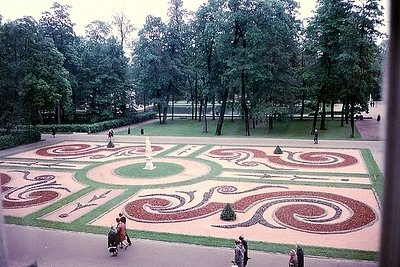 A Garden at Catherine the Great's Palace