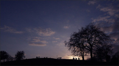 sunset on Primrose Hill, London