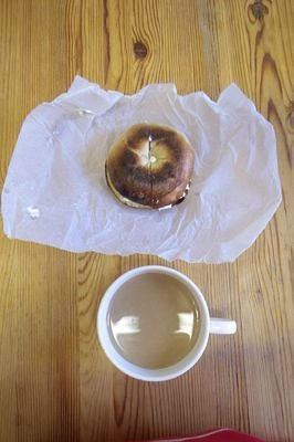 """Bagel with Latte"""