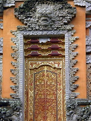 Temple Door - Puri Saraswati in Ubud