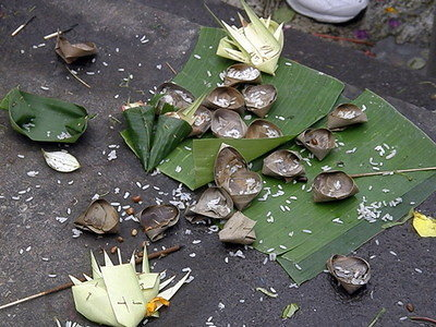 Offerings at Tirta Empul Temple
