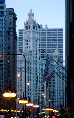 Day's End on Michigan Avenue - Chicago