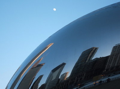 Moonrise over Chicago