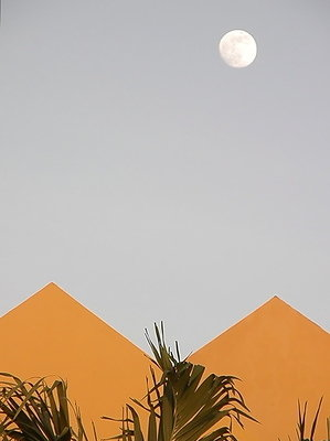 Moonrise over Hotel