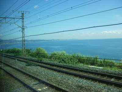 View of Sagami Bay from the Tokaido Line