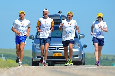 Peace Run 2014 in Canada. June27-July13 & July27-August7, 2014