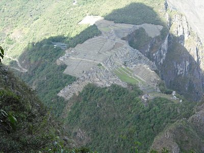 From The Huayna Picchu Mountain looking at Machu Picchu