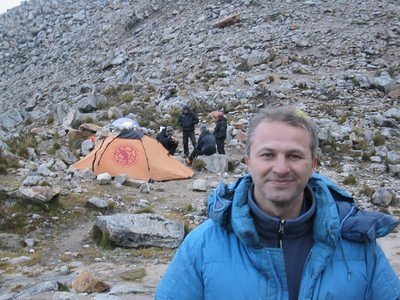 Me on  the moraine camp