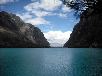 One of the lakes in the Langanuco valley
