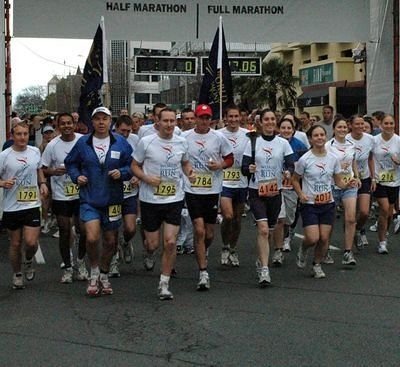 Members from the Sri Chinmoy Marathon Team