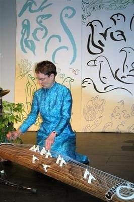 Maureen, a maestro on the koto