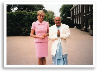 Sri Chinmoy and Princess Diana - Kensington Palace