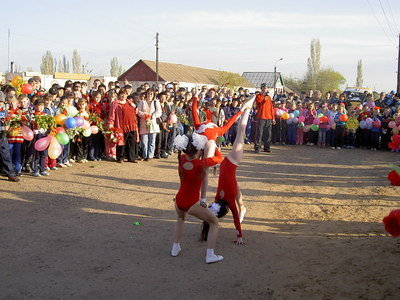 Children's acrobatic performance