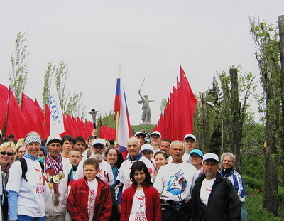 On Victory Day at Mamayev hill