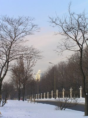 Moscow University in winter
