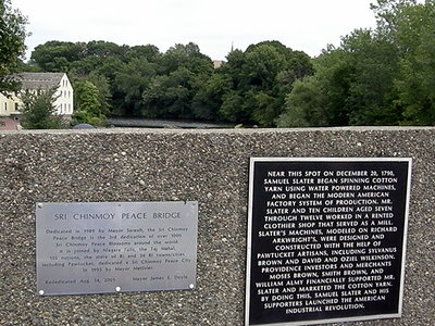Plaques on Pawtucket Bridge